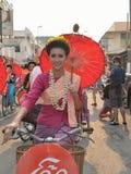 Songkran festival in Chiangmai. Royalty Free Stock Images