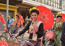 Songkran festival in Chiangmai. Royalty Free Stock Photo