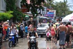 Songkran Festival in der Samui Insel Lizenzfreies Stockfoto