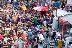Songkran Festival des neuen Jahres Stockfoto