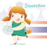 Songkran festival girl Stock Photo