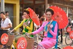 Songkran festival i Chiangmai. Royaltyfri Foto