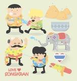 Songkran festival. Illustration Cartoons Songkran festival . eps10 Stock Photos