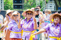 Songkran Festival 2015. LOPBURI - APRIL 13: Songkran Festival is celebrated in Thailand as the traditional New Year's at Banmi district on April 13, 2015 in Stock Photography