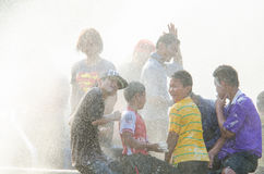 Songkran Festival 2015. LOPBURI - APRIL 13: Songkran Festival is celebrated in Thailand as the traditional New Year's at Banmi district on April 13, 2015 in Stock Images