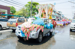 Songkran Festival 2015. LOPBURI - APRIL 13: Songkran Festival is celebrated in Thailand as the traditional New Year's at Banmi district on April 13, 2015 in Stock Image