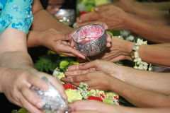 Songkran festival. Is new year in Thailand, water blessing ceremony of adults Stock Photography