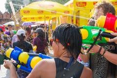 Songkran festival på April 14, 2015 Chiangmai, Thailand Royaltyfri Bild