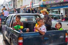 Songkran festival på April 14, 2015 Chiangmai, Thailand Royaltyfri Fotografi