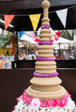 Songkran festival. With pagoda from sand Royalty Free Stock Photography