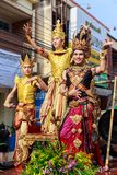 Songkran Festival Parade Traditional culture of Salung Luang Procession Lanna style in Lampang province northern of Thailand. LAMPANG, THAILAND - 12 APRIL 2017 Royalty Free Stock Images