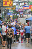 Songkran festival - People and traveler to play water splash on streets of the Pattaya city. Thailand, Stock Images