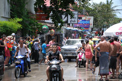 Songkran Festival In Samui Island Royalty Free Stock Photo