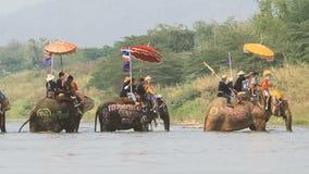 Songkran festival, Sukhothai, Thailand. stock video
