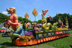Songkran Festival in the Thai-Mon style. Samut Prakan,Thailand-APRIL 14,2017: Songkran Festival in the Thai-Mon style, Songkran Festival at Bang Nam Phueng, Phra Stock Photo