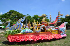 Songkran Festival in the Thai-Mon style. Samut Prakan,Thailand-APRIL 14,2017: Songkran Festival in the Thai-Mon style, Songkran Festival at Bang Nam Phueng, Phra Stock Image