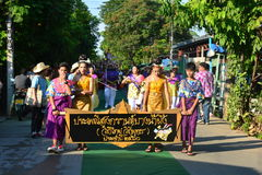 Songkran Festival in the Thai-Mon style. Samut Prakan,Thailand-APRIL 14,2017: Songkran Festival in the Thai-Mon style, Songkran Festival at Bang Nam Phueng, Phra Royalty Free Stock Images