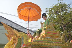 Songkran Festival in the Thai-Mon style. Samut Prakan,Thailand-APRIL 13,2017: Songkran Festival in the Thai-Mon style, featuring a magnificent parade, and see a Royalty Free Stock Photography