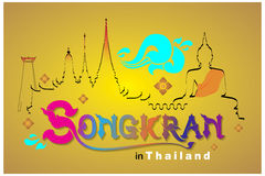 Songkran-Festival in Thailand Stockfoto