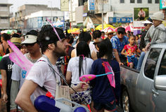 The Songkran Festival in Thailand. Stock Photos