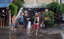 Songkran festival in Thailand. Stock Photo