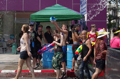 The Songkran Festival in Thailand. Royalty Free Stock Photography