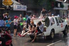 The Songkran Festival in Thailand. Stock Photo