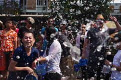 The Songkran Festival in Thailand. Stock Images