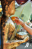 Songkran Festival, Thailand. During Songkran Festival, Thai people are bathing rite for Buddha images Stock Photography