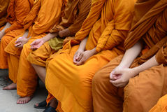 Songkran Festival Thailand to Buddhist monks Stock Photography