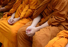 Songkran Festival Thailand to Buddhist monks Stock Image