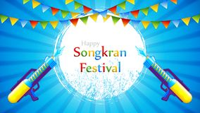 Songkran festival royaltyfri illustrationer
