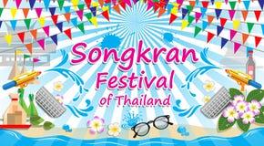 Songkran-Festival von Thailand, Vektorzeichensymbol vektor abbildung