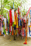 Songkran Festival at Wat Thum Chiangdow. In Chiangmai Thailand Royalty Free Stock Photography