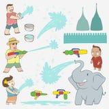 Songkran-Festivalelement Stockbild