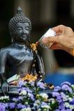 Songkran festivalThailand nytt år fotografering för bildbyråer