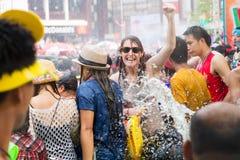Songkran festiwal na Kwietniu 14, 2015 Chiangmai, Tajlandia Zdjęcia Royalty Free