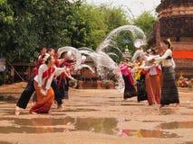 Songkran festiwal przy chiangmai, Thailand Obrazy Stock