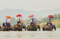 Songkran festiwal, Sukuthai Tajlandia obrazy royalty free