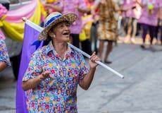 Songkran festiwal w Bangkok fotografia stock