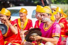 Songkran festiwalu parada obraz royalty free