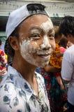 Songkran font face à la peinture image libre de droits