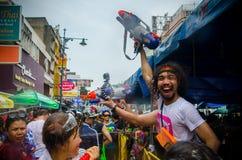 Songkran fun Stock Photo