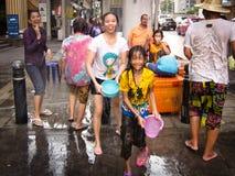 Songkran - het nieuwe jaar van Thailand Stock Foto