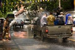 Songkran het Thaise Nieuwjaar` s festival Stock Fotografie