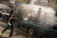 Songkran het Thaise Nieuwjaar` s festival Stock Foto