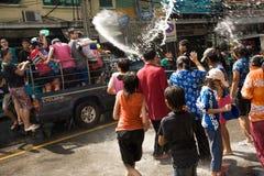 Songkran het Thaise Nieuwjaar` s festival Royalty-vrije Stock Foto