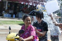Songkran - neues Jahr in Thailand Stockbilder