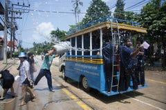 Songkran - Nieuwjaar in Thailand Stock Fotografie