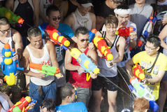 Songkran oder Wasser-Festival in Thailand Stockfotografie